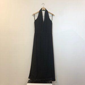 Aaron Ashe Black Halter Maxi Dress Size Me…